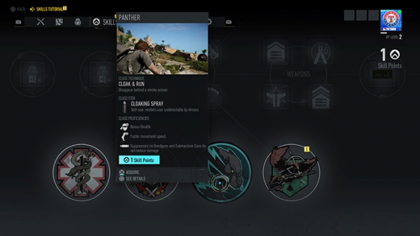 menu ghost recon